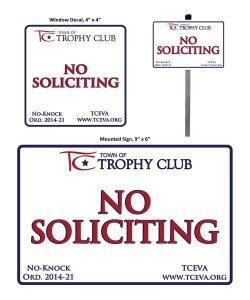 No solicitation Signs
